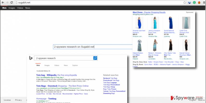 Sugabit.net hijack popular web browsers