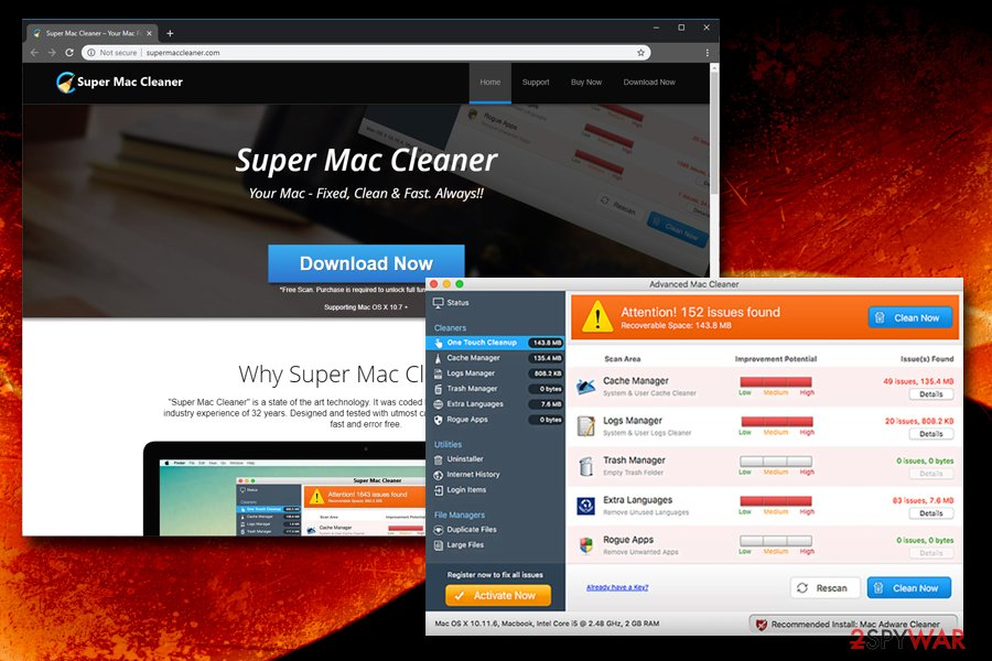 Super Mac Cleaner fake optimizer