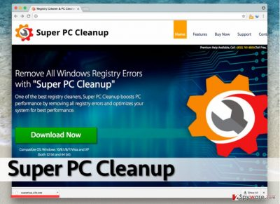 Screenshot of Super PC Cleanup official site
