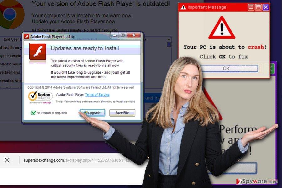 The example of Superadexchange.com virus