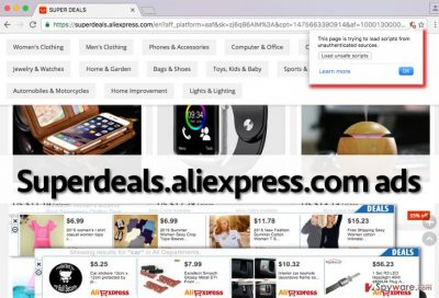 Ads by Superdeals.aliexpress.com can look like that