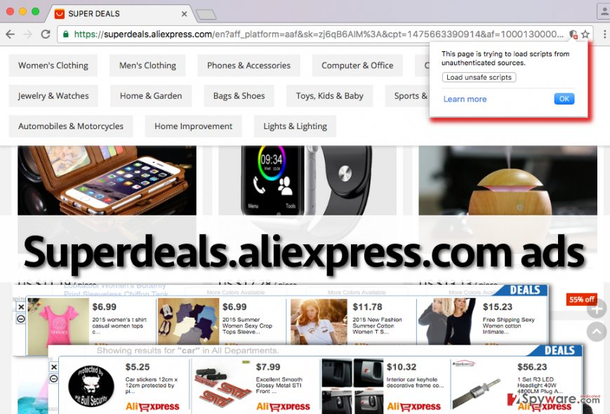 Superdeals.aliexpress.com adware sending intrusive ads