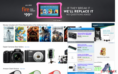 Superfish ads that appear on shopping website