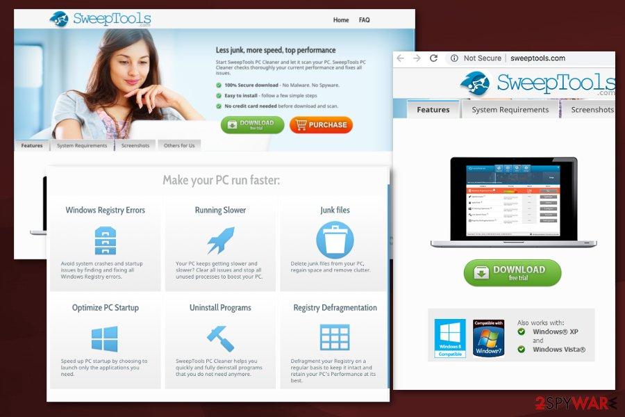 SweepTools PC Cleaner PUA