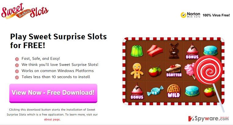 Sweet Surprise Slots adware