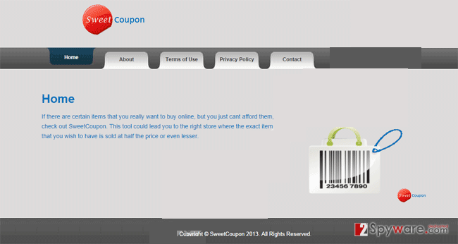SweetCoupon ads snapshot