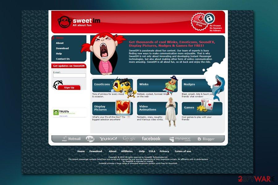 Sweetim.com site
