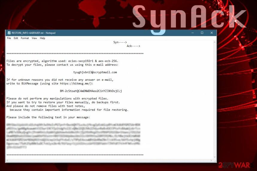 SynAck ransomware virus spreads worldwide