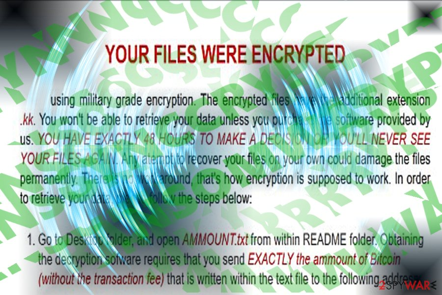 The picture displaying  SyncCrypt ransomware