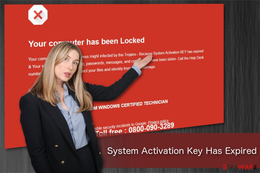 System Activation Key Has Expired illustration