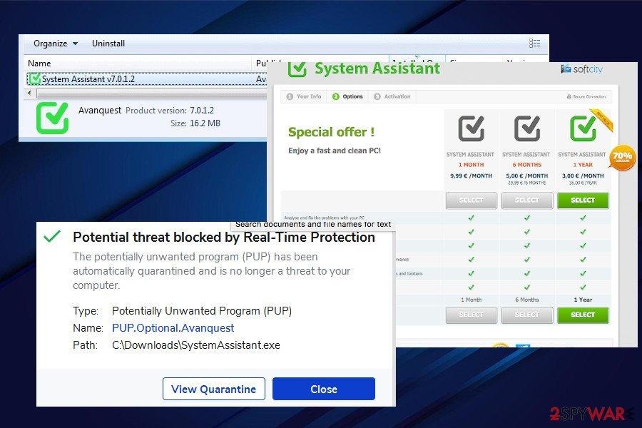 System Assistant mimics real optimization tool