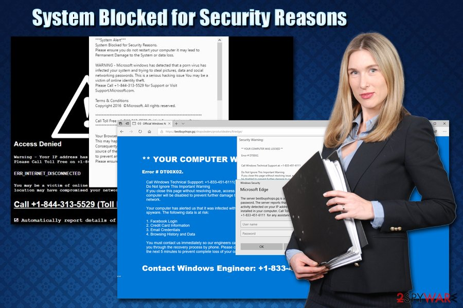 System Blocked for Security Reasons scam