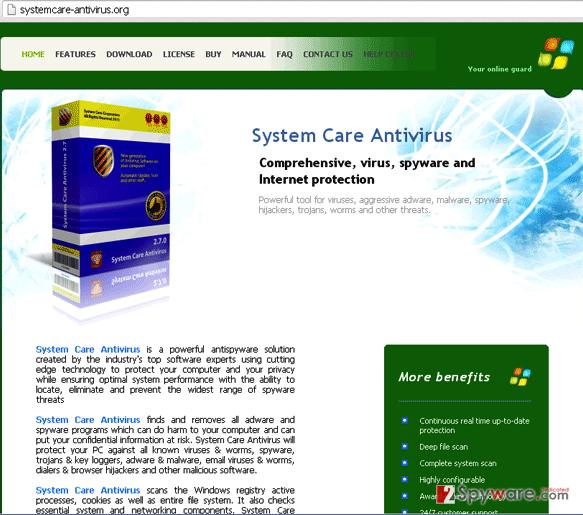 Systemcare-antivirus.org snapshot