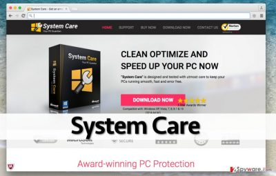 Official website of System Care