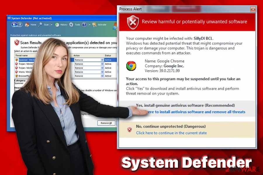 System Defender virus
