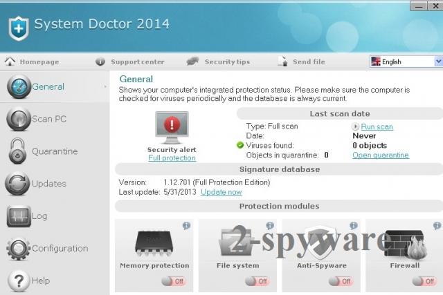 System Doctor 2014 snapshot
