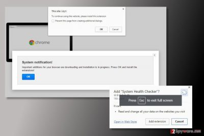 The image of System Health Checker virus