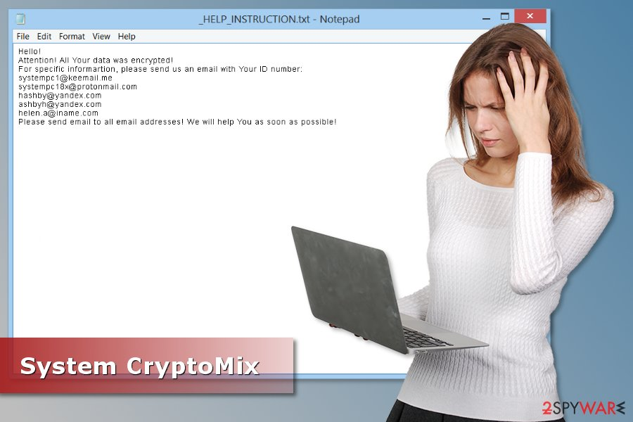 Image of System ransomware virus