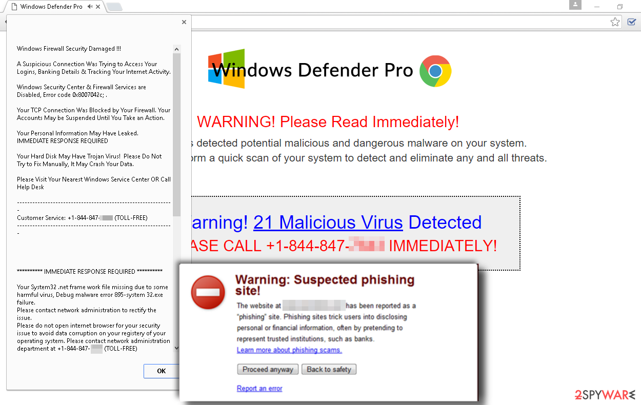 System-virus-infection.com scam pop-up warning