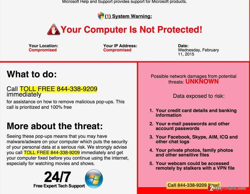 System Warning (fake)