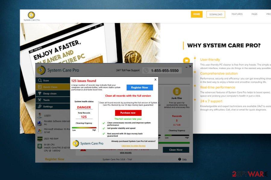 SystemCarePro virus scanner