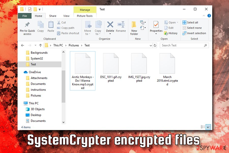 SystemCrypter encrypted files
