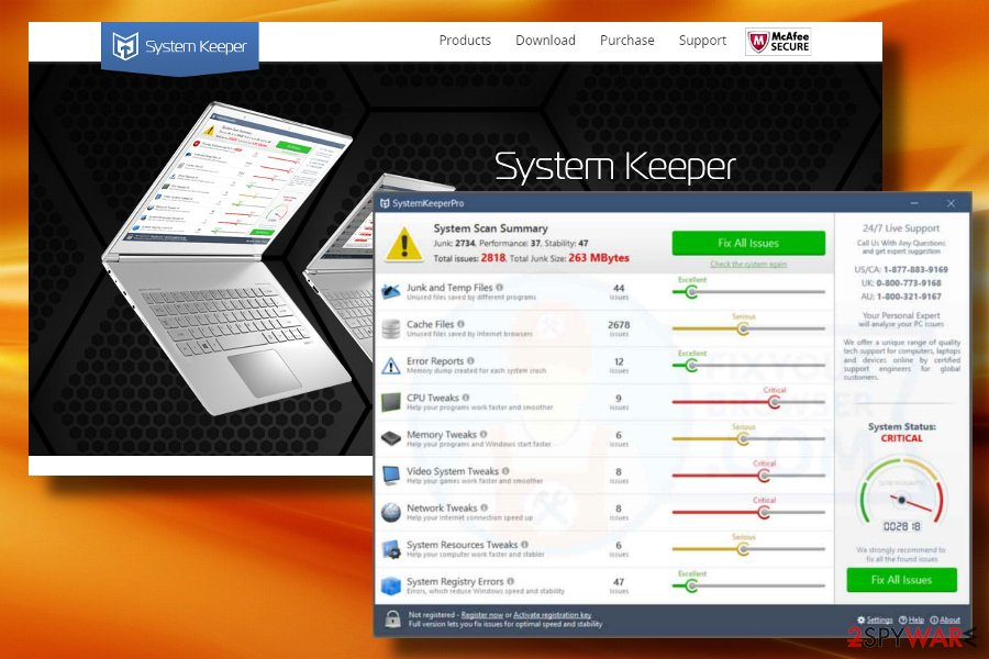 SystemKeeperPro is not a reliable system tool