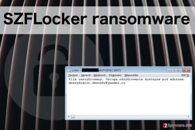 An example of SZFLocker ransomware ransom note