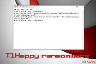 T1Happy ransomware