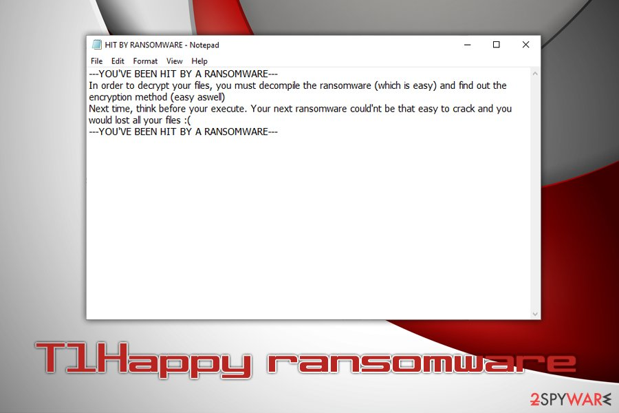 T1Happy ransomware