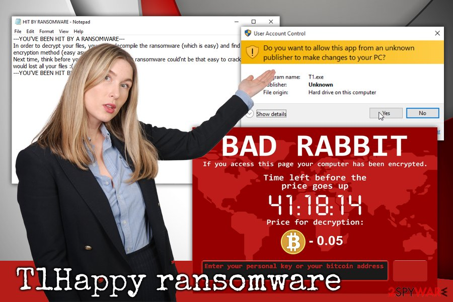 T1Happy ransomware virus