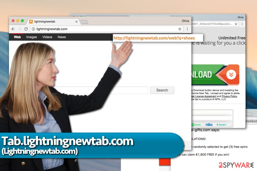 Tab.Lightningnewtab.com redirect virus