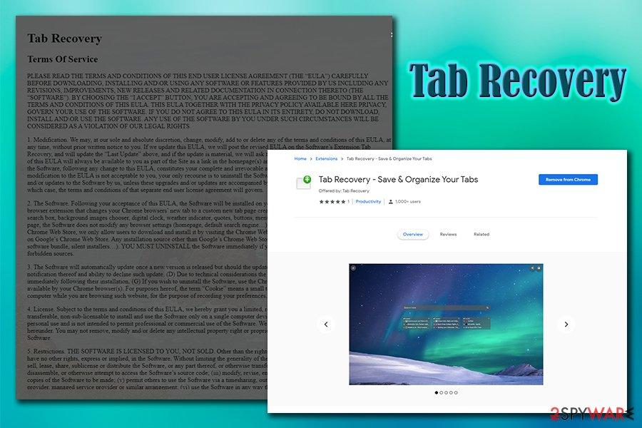 Tab Recovery virus
