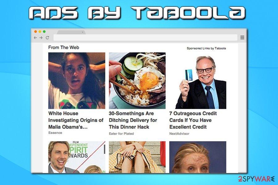 Taboola on Google Chrome