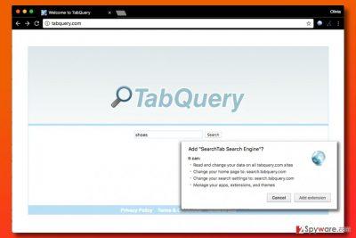 Tabquery.com hijack