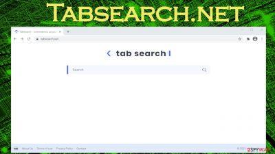 Tabsearch.net browser hijacker