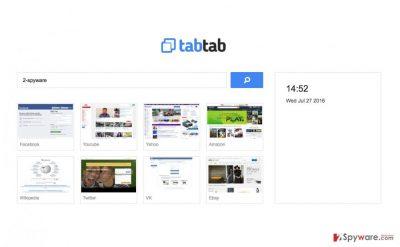 An illustration of the TabTab.xyz browser hijacker virus