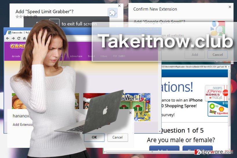 Takeitnow.club adware virus