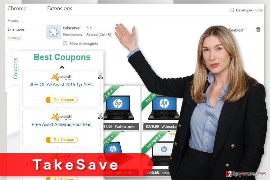 The image of TakeSave virus