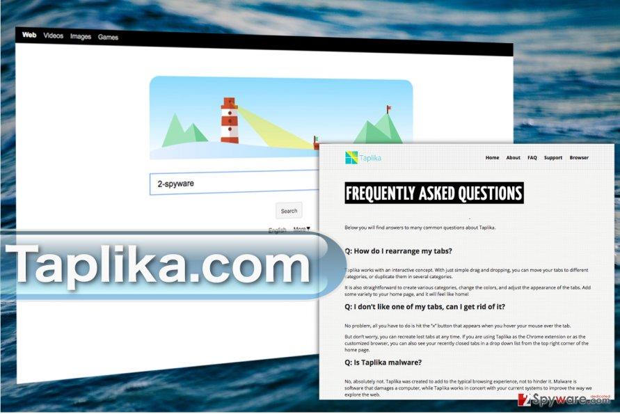 Taplika.com website screenshot