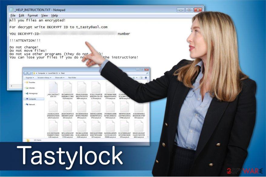 Tastylock ransomware image
