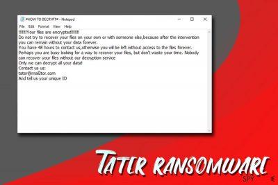 Tater ransomware
