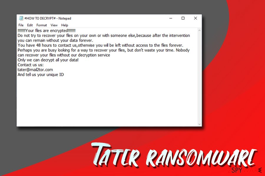 Tater ransomware