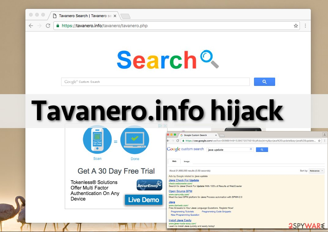 Tavanero.info redirect virus on Safari
