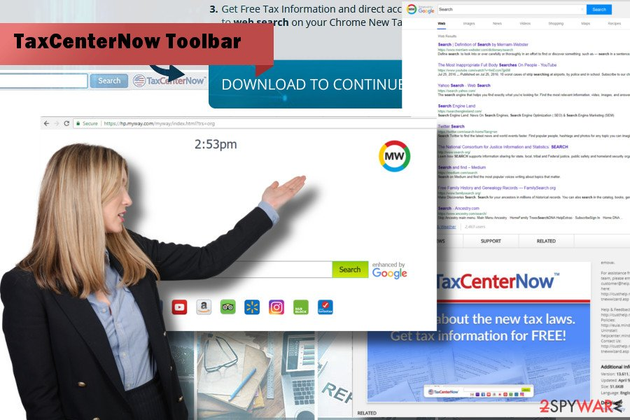 TaxCenterNow Toolbar hijacked web browser