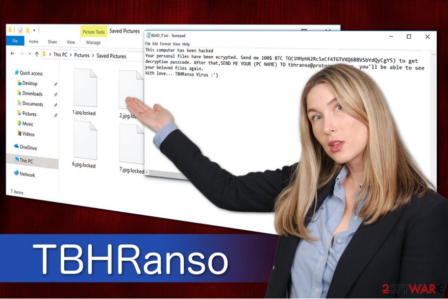 TBHRanso ransomware virus illustration