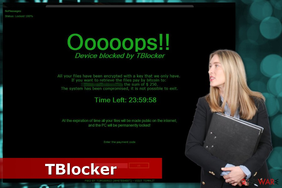 Image of TBlocker ransomware