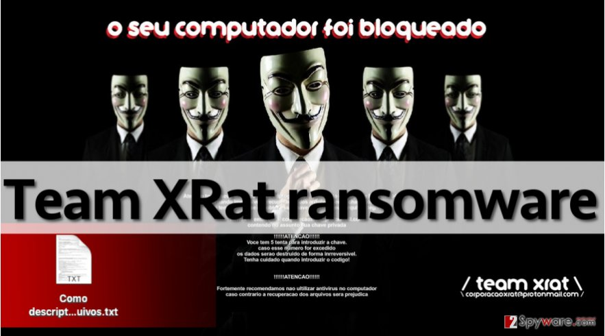 Team XRat ransom note