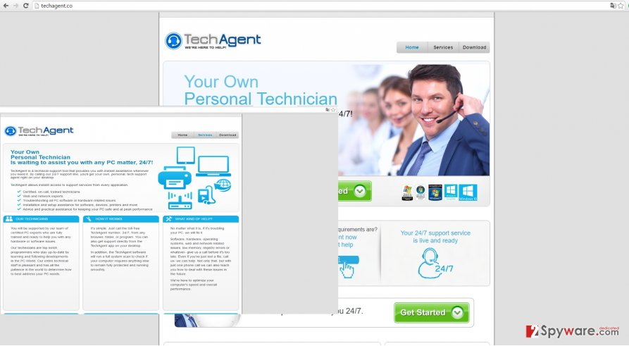 The picture showing TechAgent