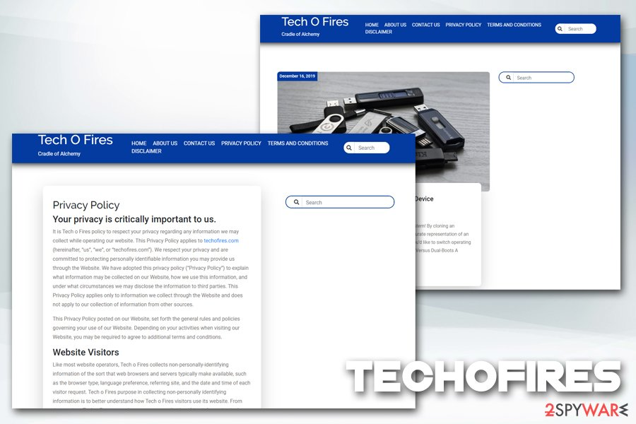 Techofires redirects